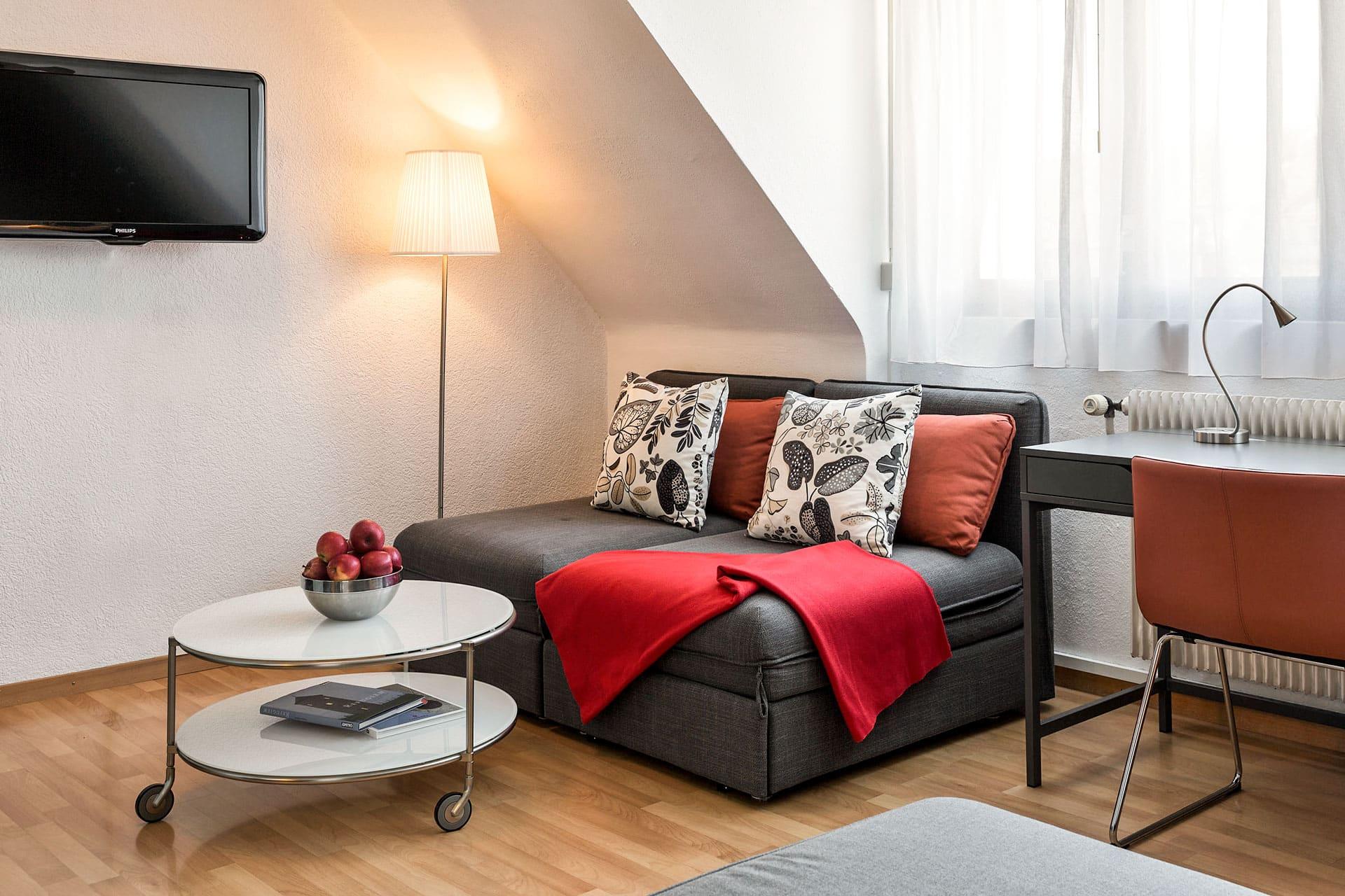 Superior Room lounge area at The La Pergola Hotel